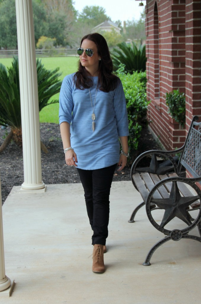 Fall Tunic and Skinny Jeans / Lady in Violet Blog