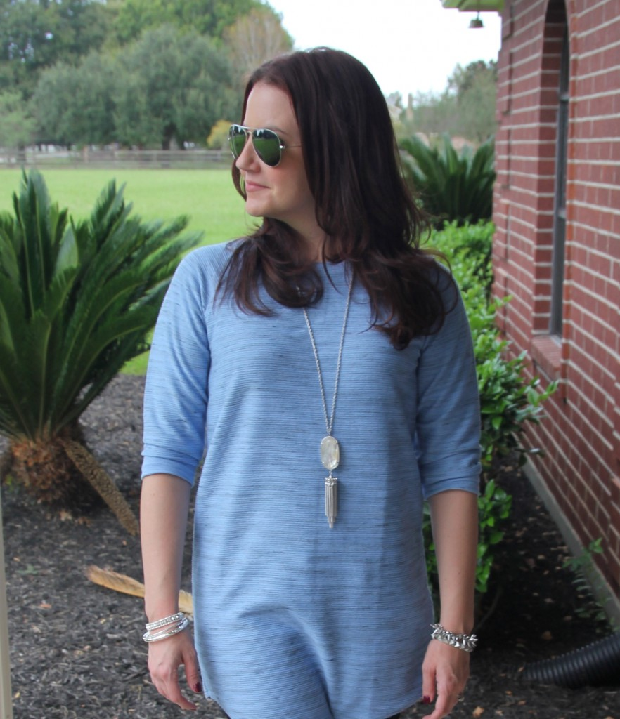 Topshop Tunic and Kendra Scott Necklace / Lady in Violet Blog