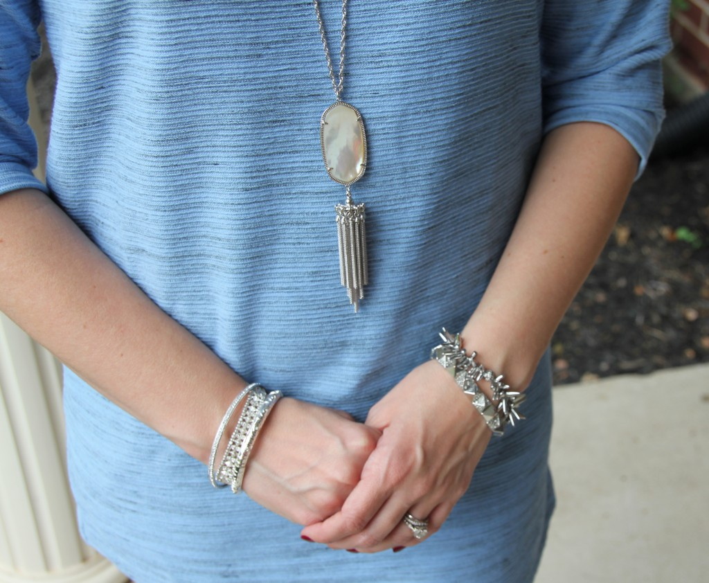 Kendra Scott Necklace and Silver Bracelets / Lady in Violet Blog