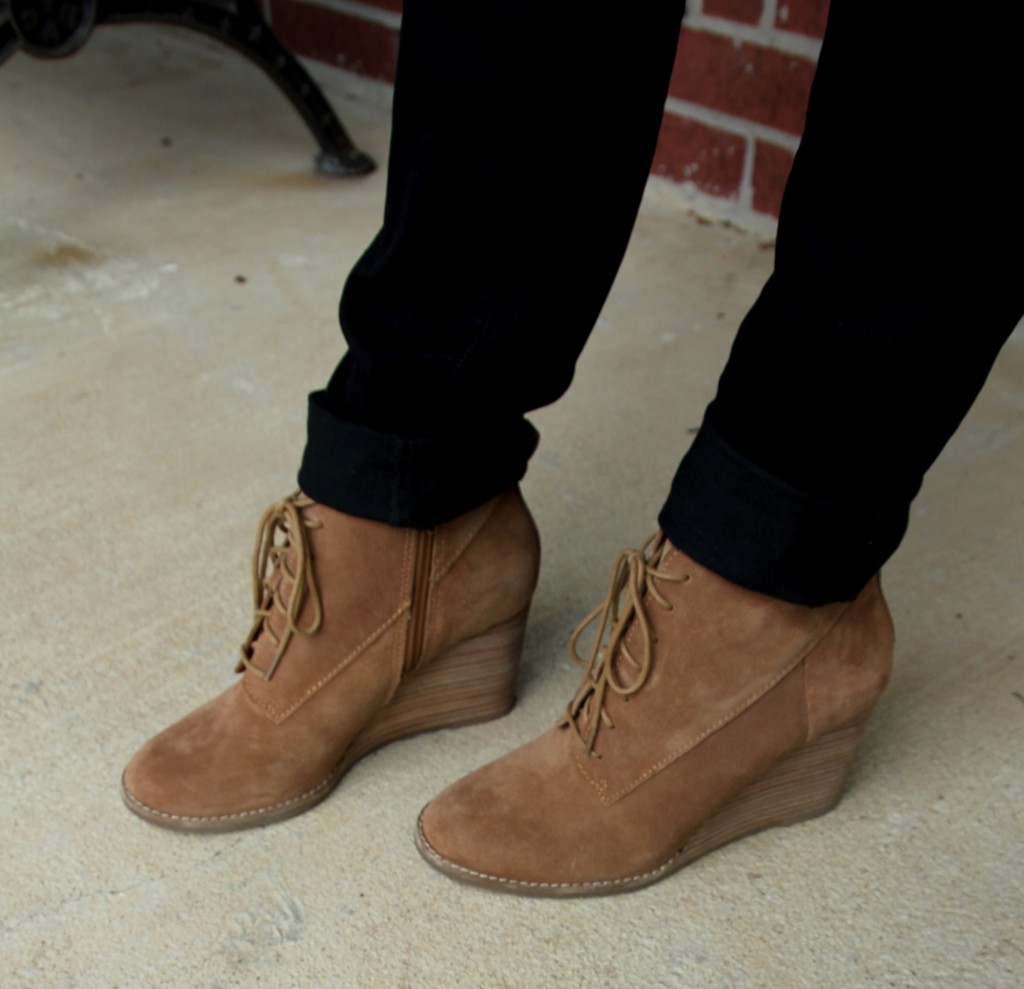 Lucky Brand Wedge Booties / Lady in Violet Blog