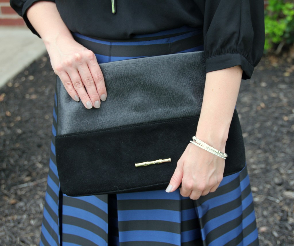 Elaine Turner Black Clutch / Lady in Violet Style Blog