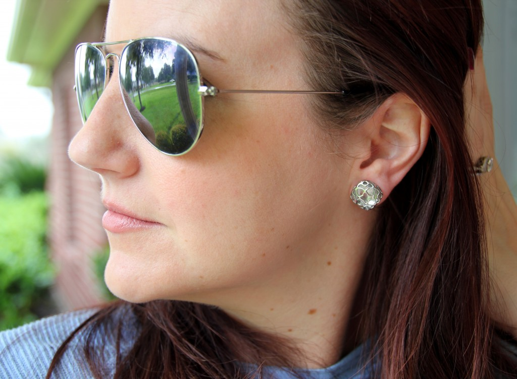 Kendra Scott Silver Stud Earrings / Lady in Violet Blog