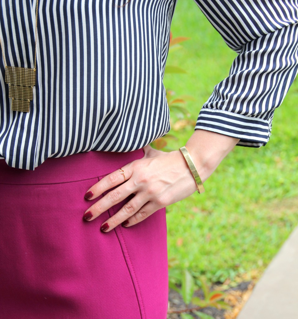Stripes and Pink / Lady in Violet Blog