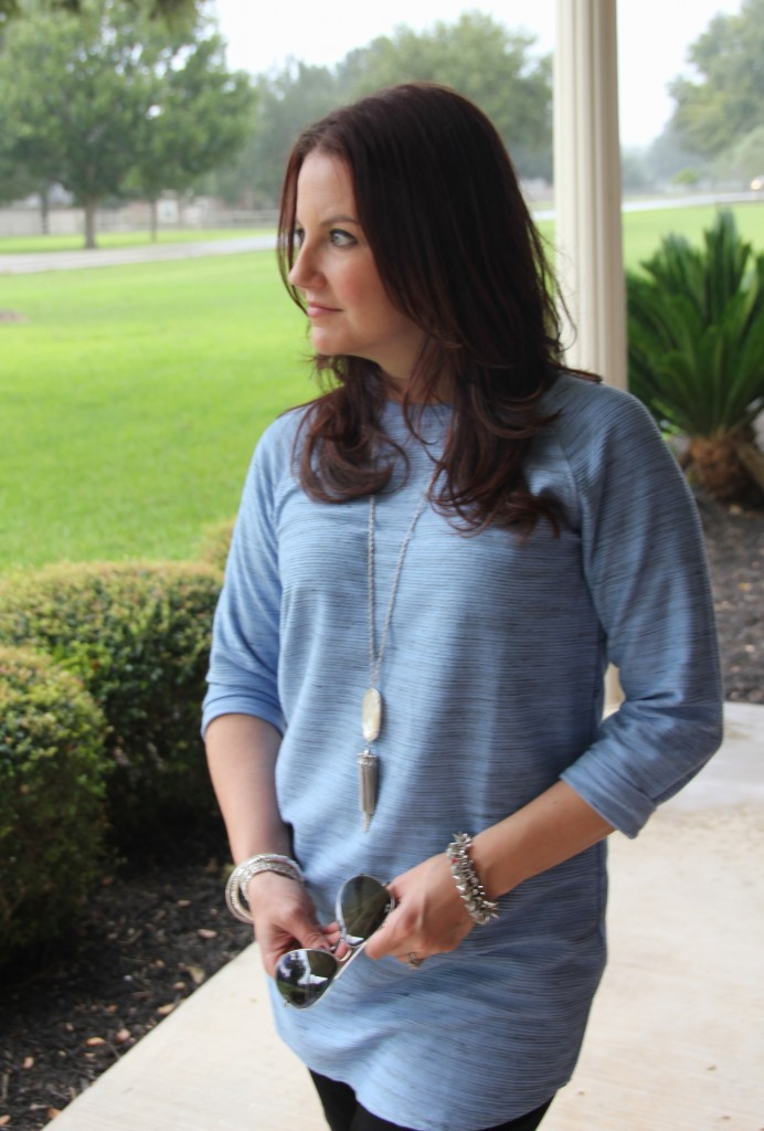 Kendra Scott Rayne Necklace and Topshop Tunic / Lady in Violet Blog