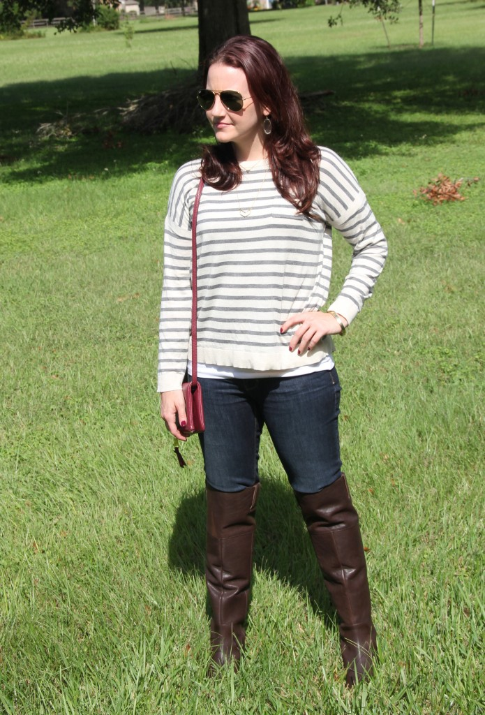 Sweater and Riding Boots Winter Style