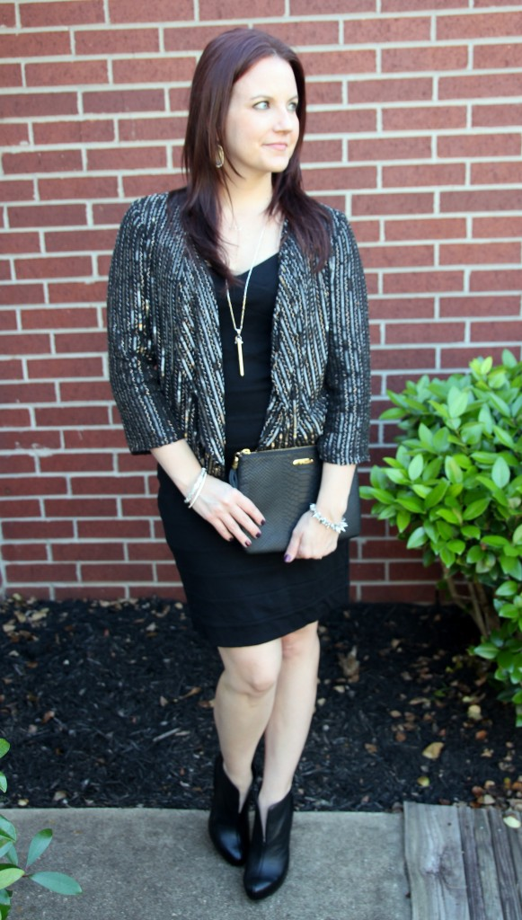 Little Black Dress with Embellished Jacket