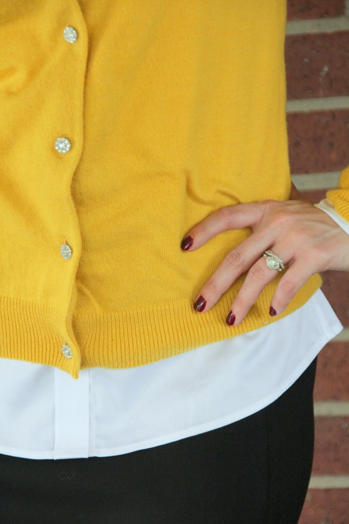 Cardigan Sweater Button detail