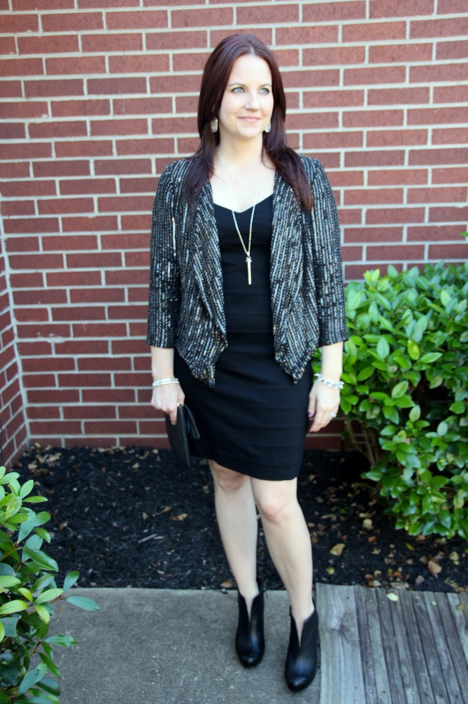 Little Black Dress with sequin Jacket