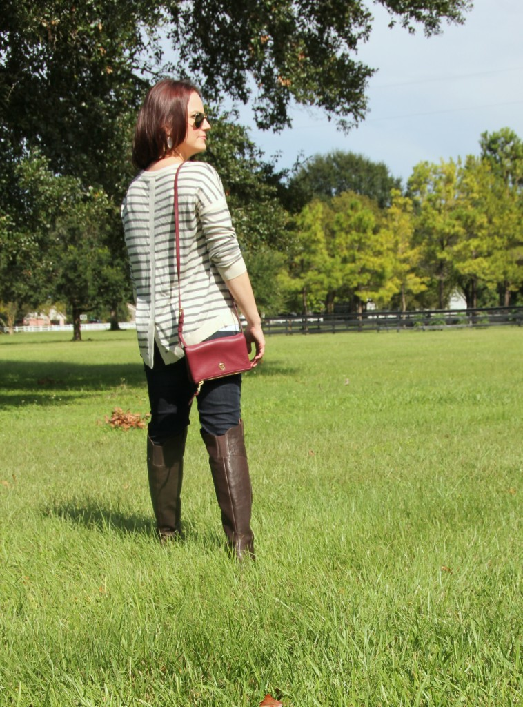 Fall Style Riding Boots and Hi Lo Sweater