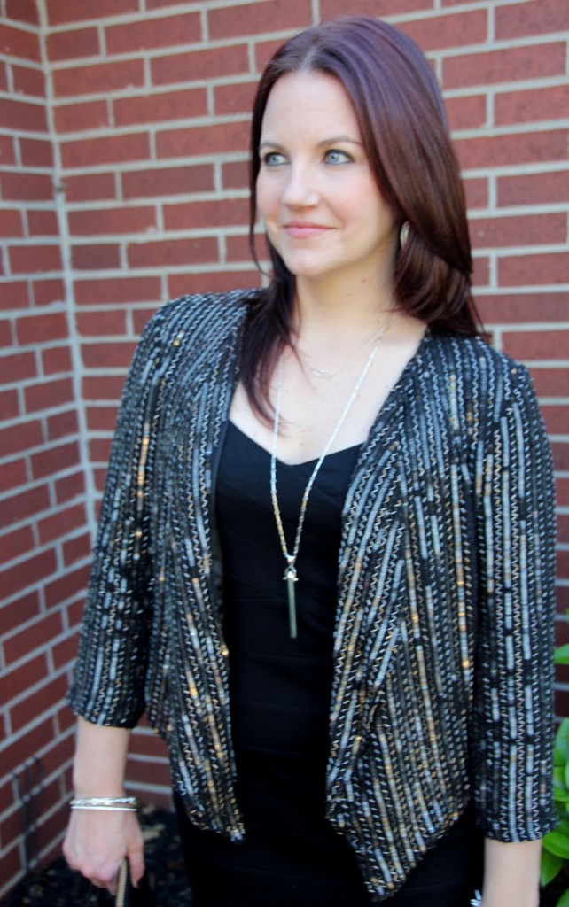Black Dress with Embellished jacket, perfect for Girls Night Out
