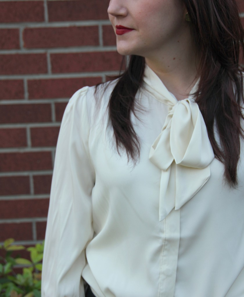 Modcloth Tie Neck Bow Blouse