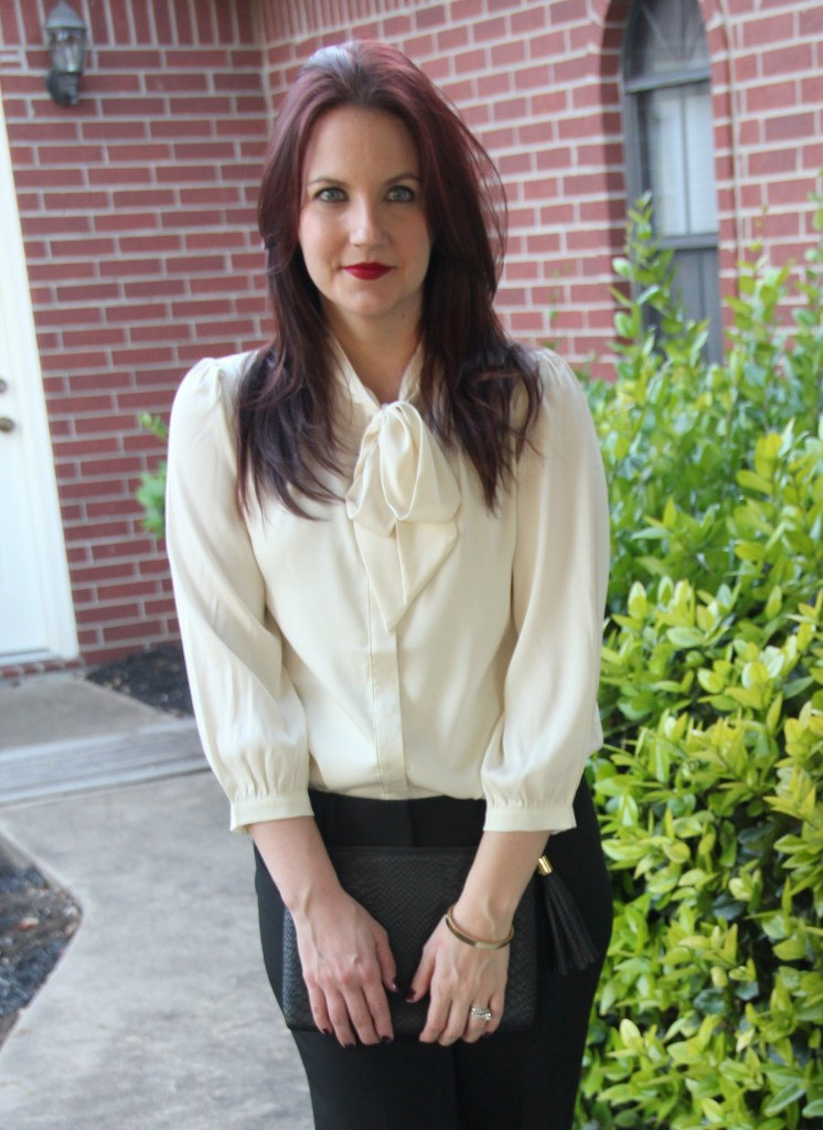 Tie Neck Bow Blouse, Work Style