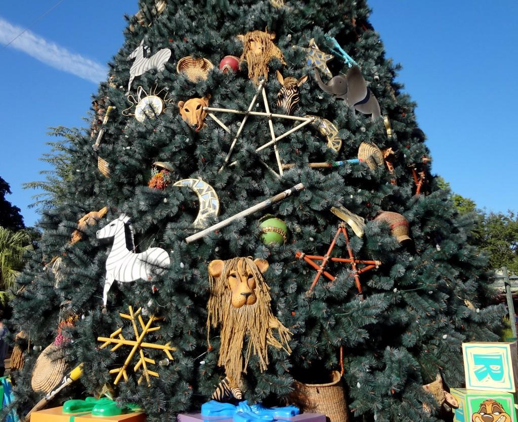 walt disney world christmas trees animal kingdom - Disney Christmas Trees