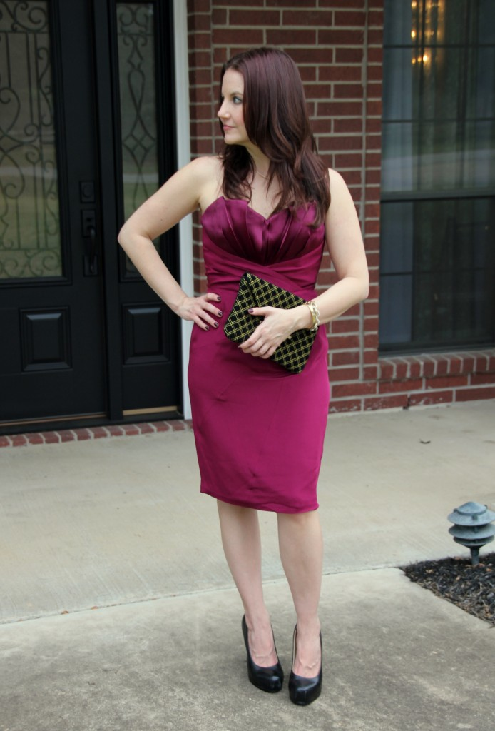 NYE Formal Party Outfit - Jay Godfrey Bailey Dress with Elaine Turner Clutch