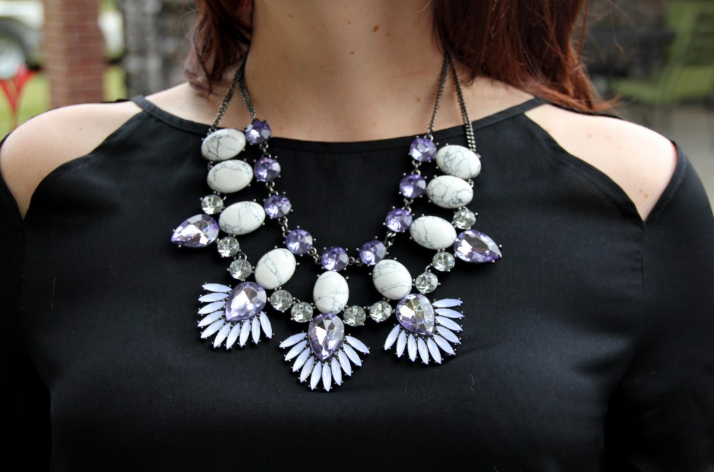 Baublebar Howlite Phoenix Bib Statement Necklace