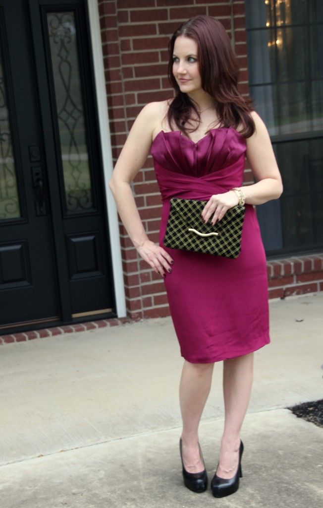 NYE Party Outfit - Jay Godfrey Bailey Dress with Elaine Turner Clutch