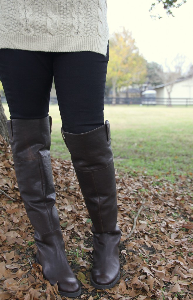 Enzo Angiolini Holdyn Over the Knee riding boots.  Perfect over black skinny jeans