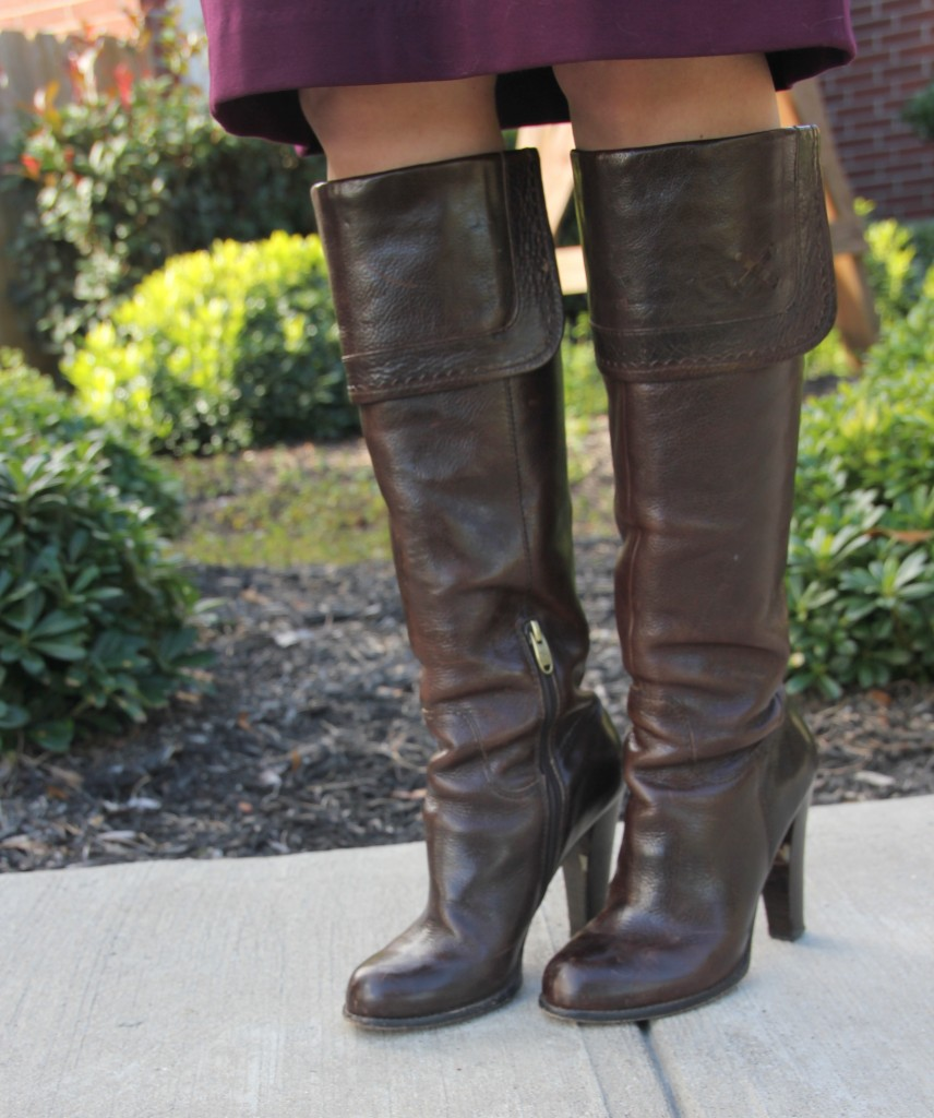 Joan and David Brown Riding Boots