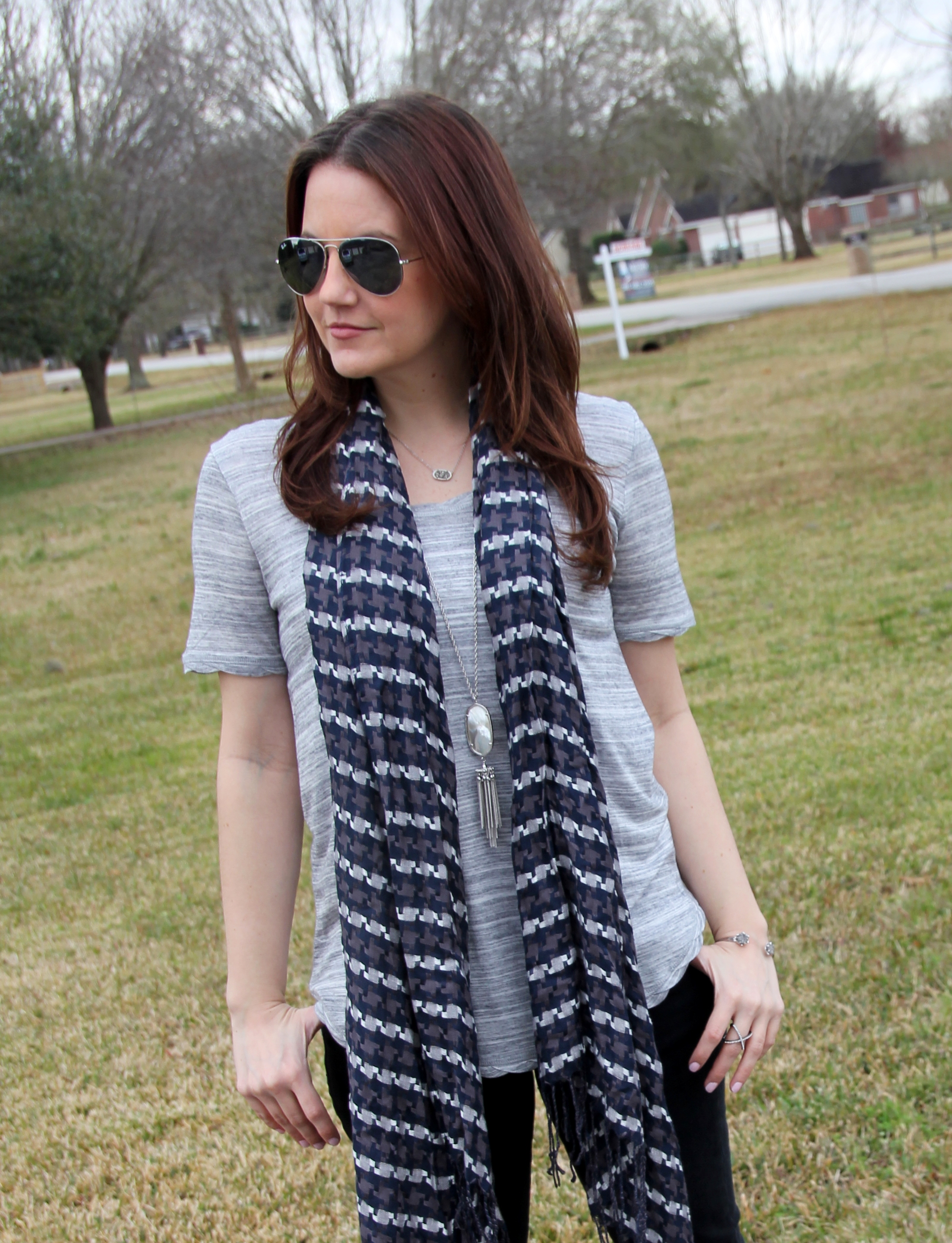 H&m Jersey Top With Scarf