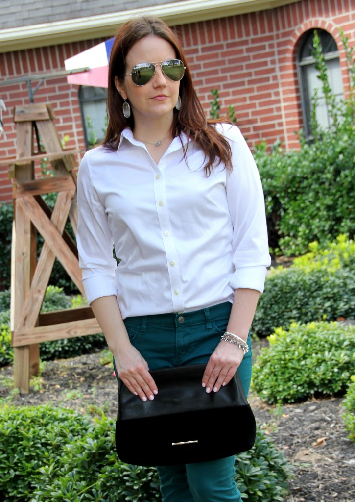 Banana Republic Blouse for Spring transition - roll up sleeves for warmer weather