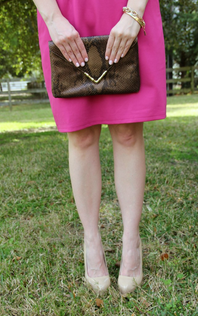 Elaine Turner Python Bella Clutch with Steve Madden Pumps