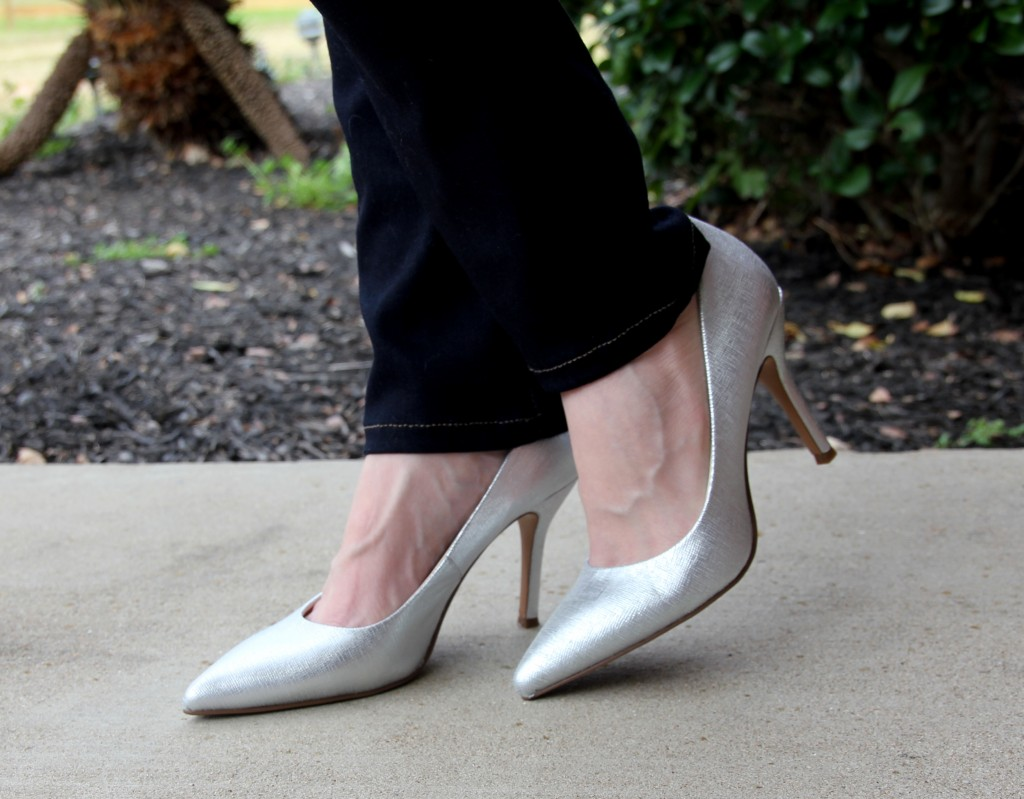Nine West Flax Silver Pumps