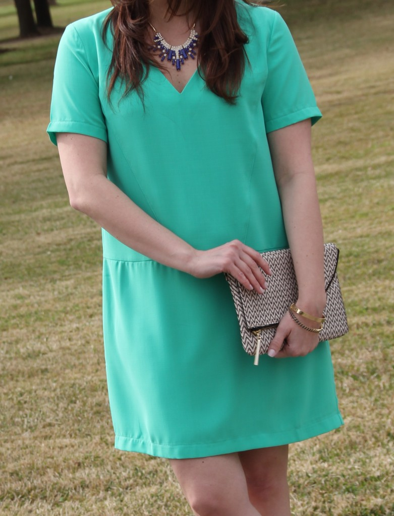 Pomp and Circumstance Mint Dress with Perry Street neckalce