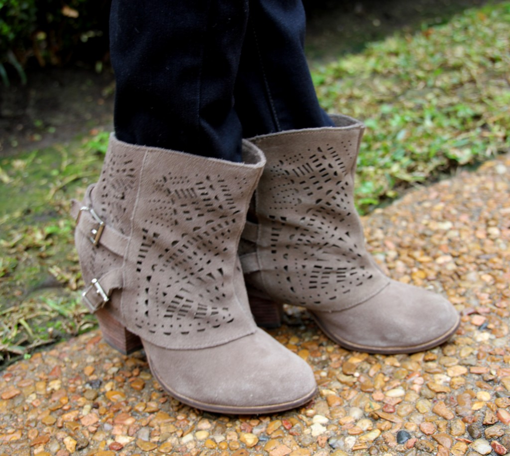 Naughty Monkey Love Story Booties in Taupe