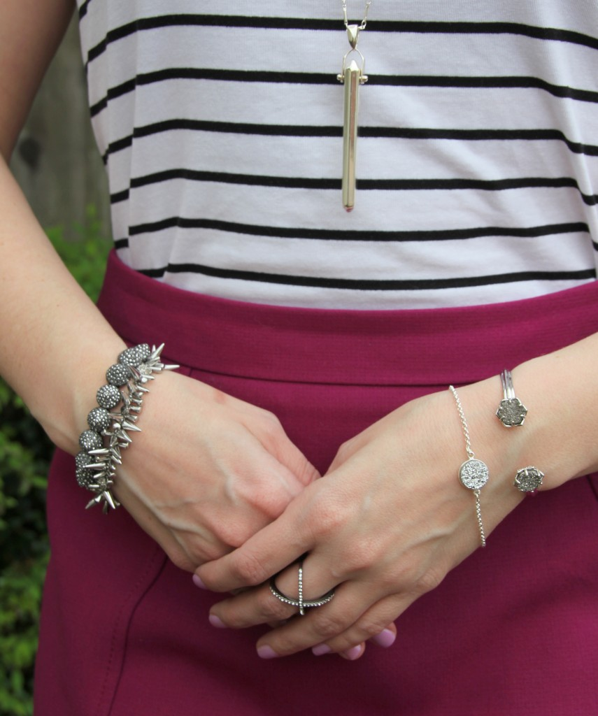 Silver Bracelets - Stella and Dot, Kendra Scott, The Shine Project | Lady in Violet