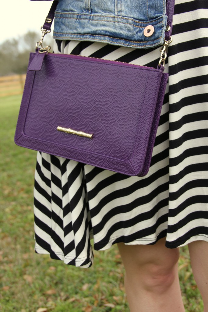Elaine Turner Purple Colbie Bag