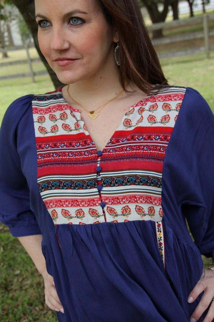 Fourth of July Dress Outfit idea | Lady in Violet