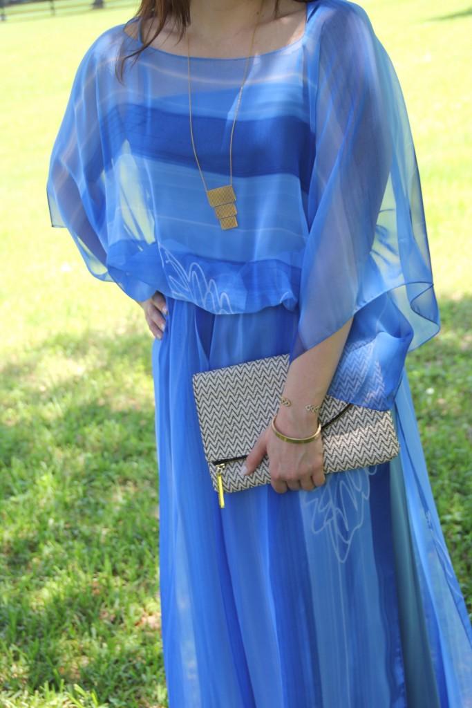 Vintage Blue Dress for Spring Fashion | Lady in Violet