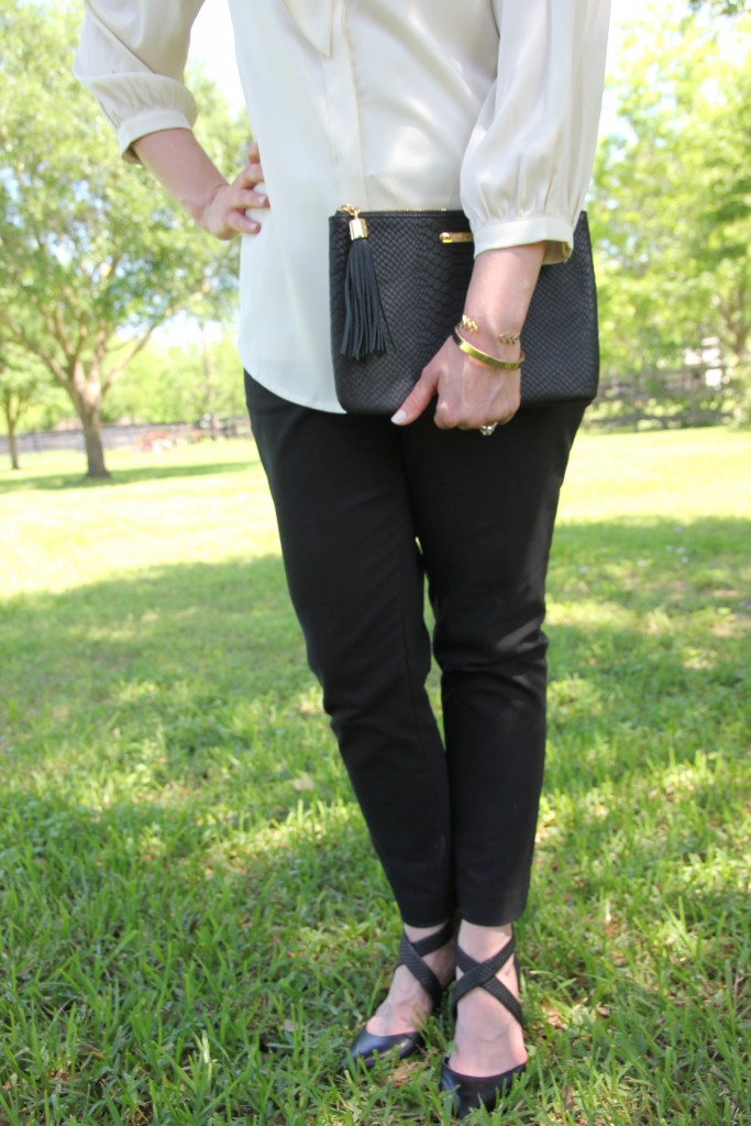 Loft Black Skinny Pants for the Office | Lady in Violet