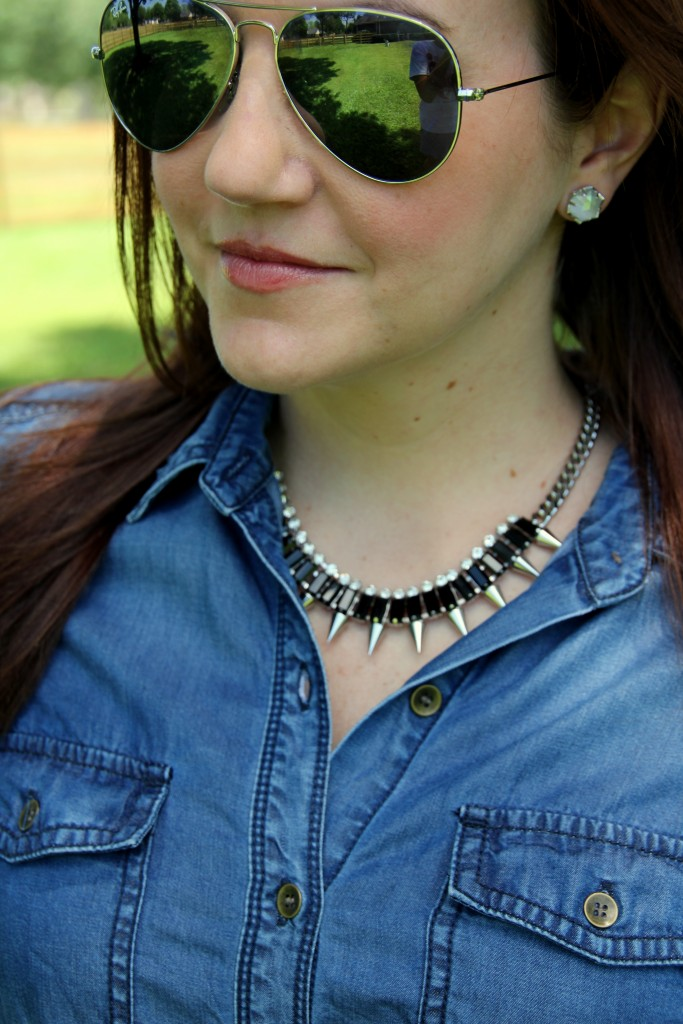 Slate Spiked Out Necklace from Rocksbox   Lady in Violet