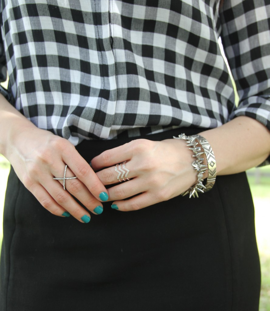 Silver Jewelry from House of Harlow and Stella & Dot | Lady in Violet