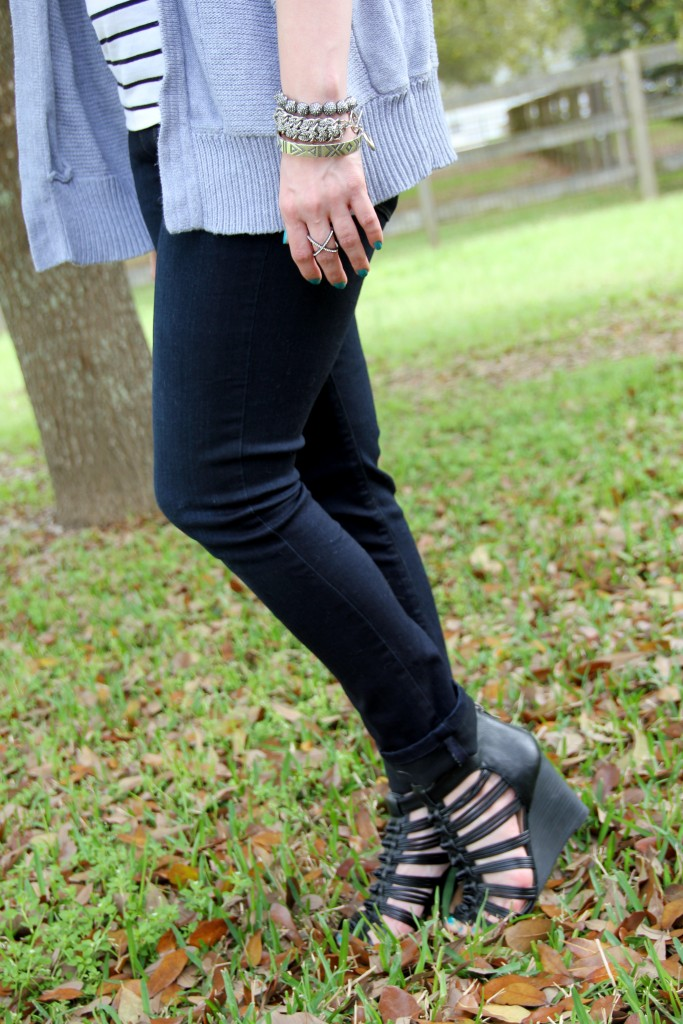 Paige Denim Skinny Jeans and Sole Society Wedges | Lady in Violet