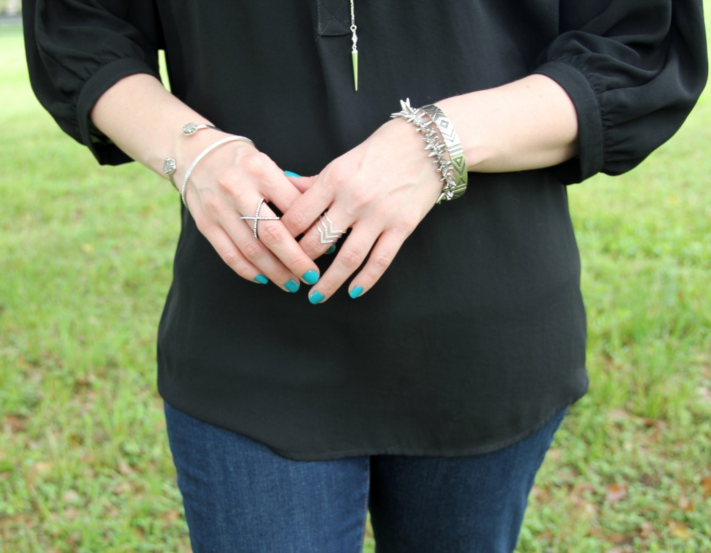 Silver Jewelry featuring Kendra Scott, House of Harlow, Baublebar, Stella & Dot | Lady in Violet
