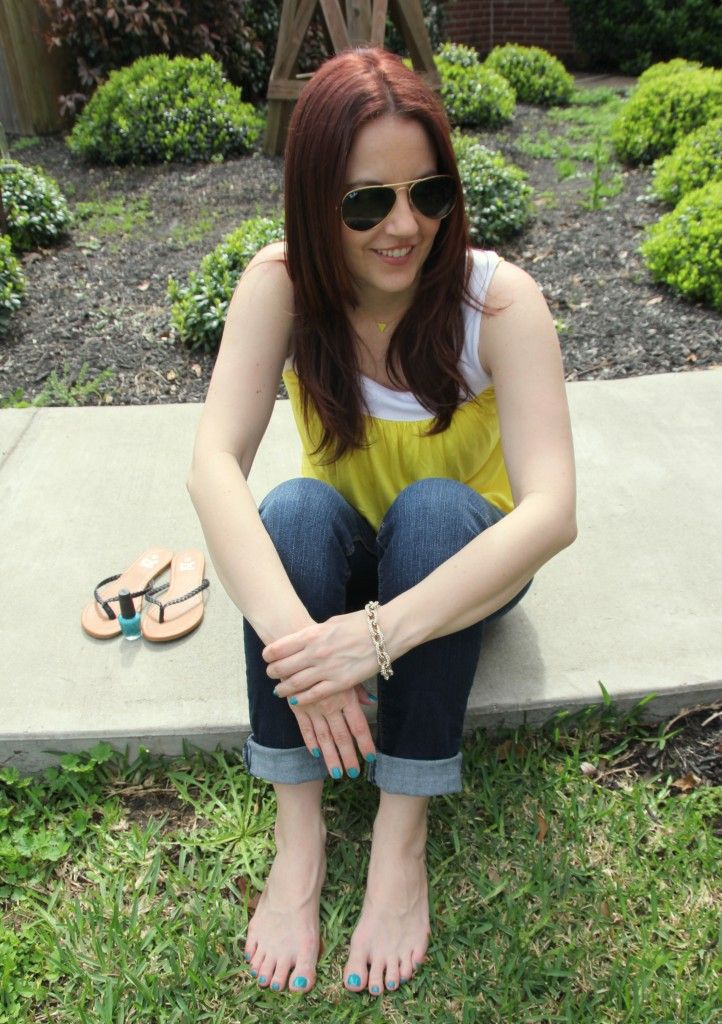 Summer Casual Outfit Idea | Lady in Violet