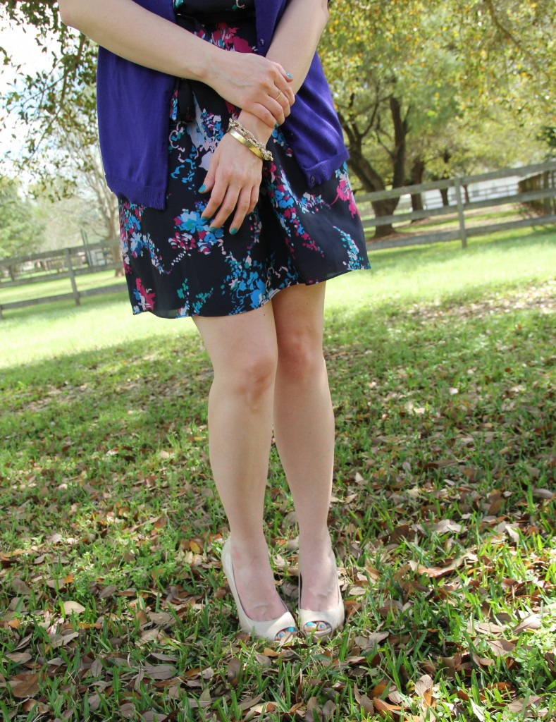 Wear skin-tone pumps to help elongate legs | Lady in Violet