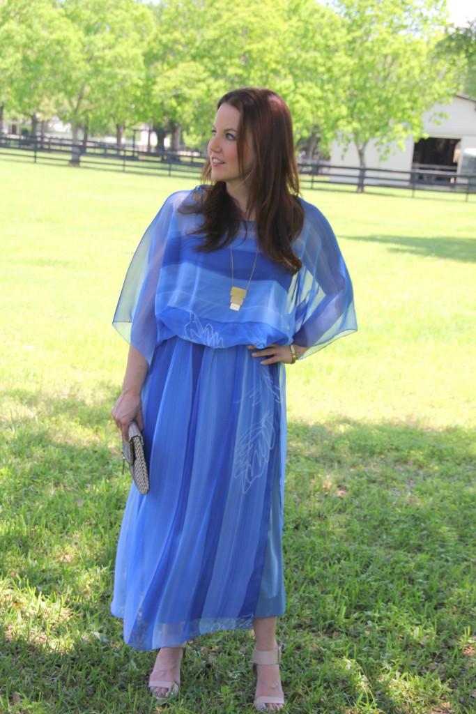 Vintage Blue Dress, perfect for Spring! | Lady in Violet