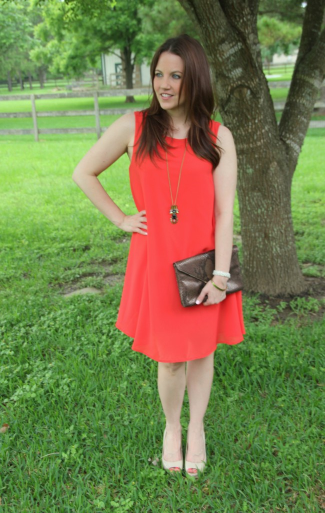 Idea Orange Shift Dress