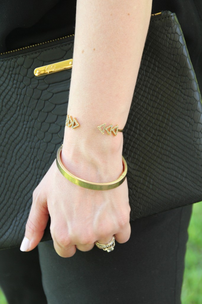 Gold Bracelets from Baublebar and House of Harlow | Lady in Violet