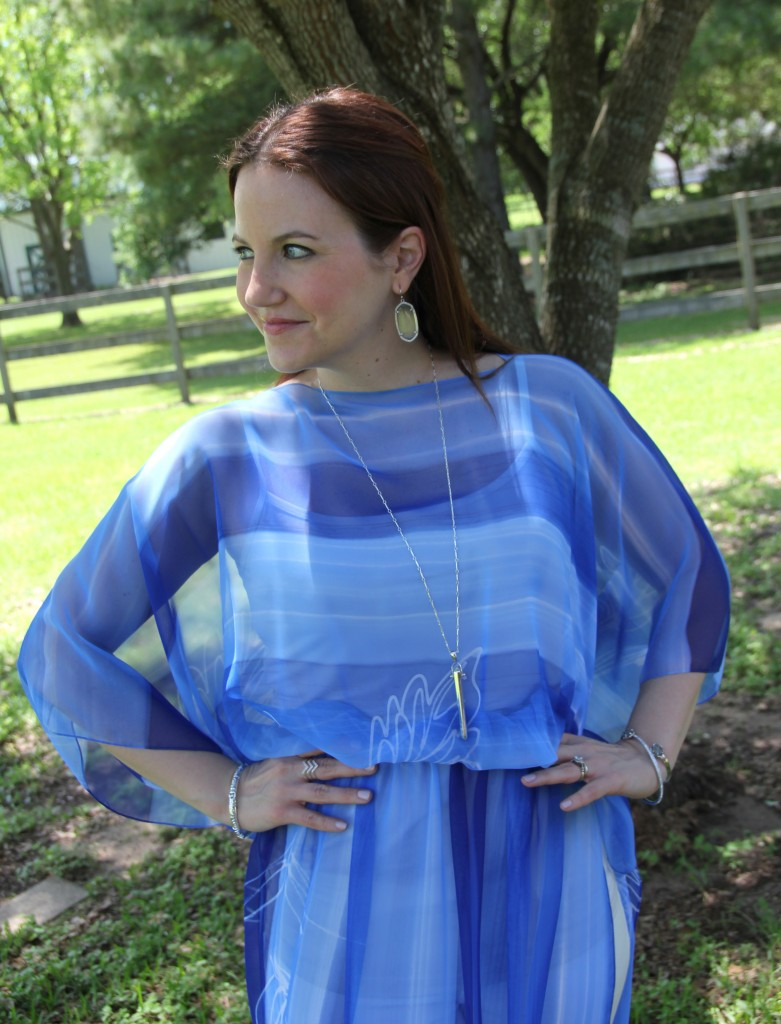 Vintage dress repurposed with white denim | Lady in Violet