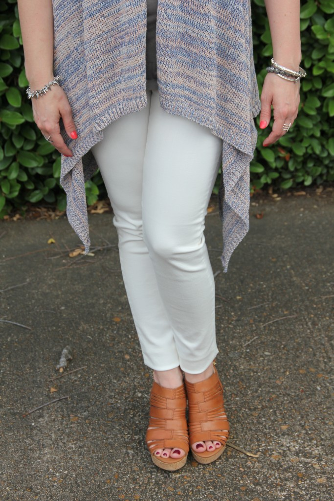 DSTLD White Denim styled for Spring | Lady in Violet