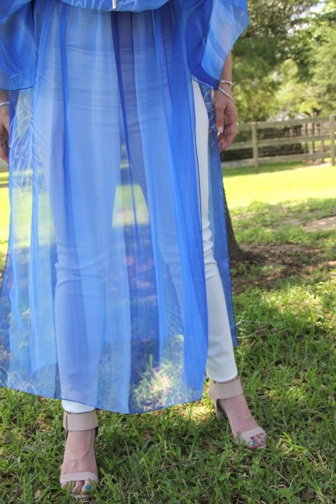 Outfit Idea - Sheer Maxi dress over skinny jeans | Lady in Violet