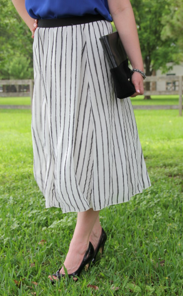 Striped Midi Skirt | Lady in Violet