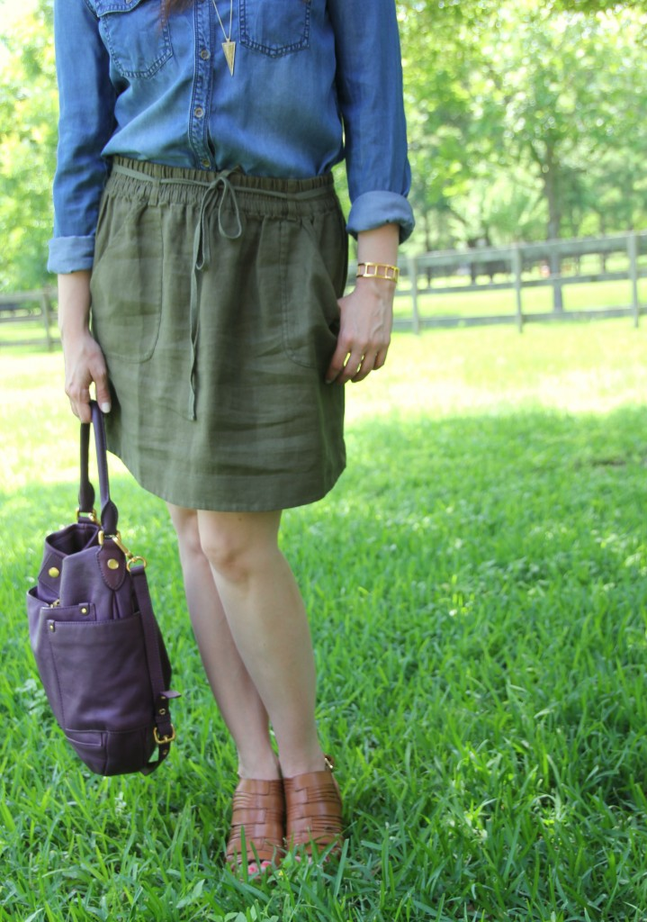 Loft Linen Skirt | Lady in Violet