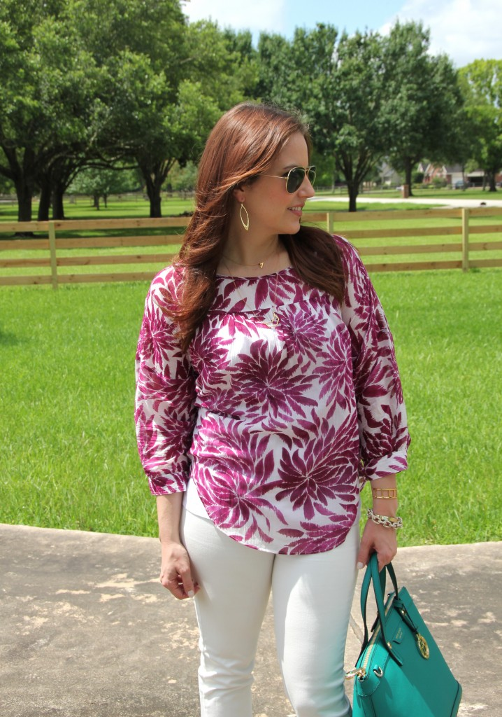 Pink Floral Top | Lady in Violet