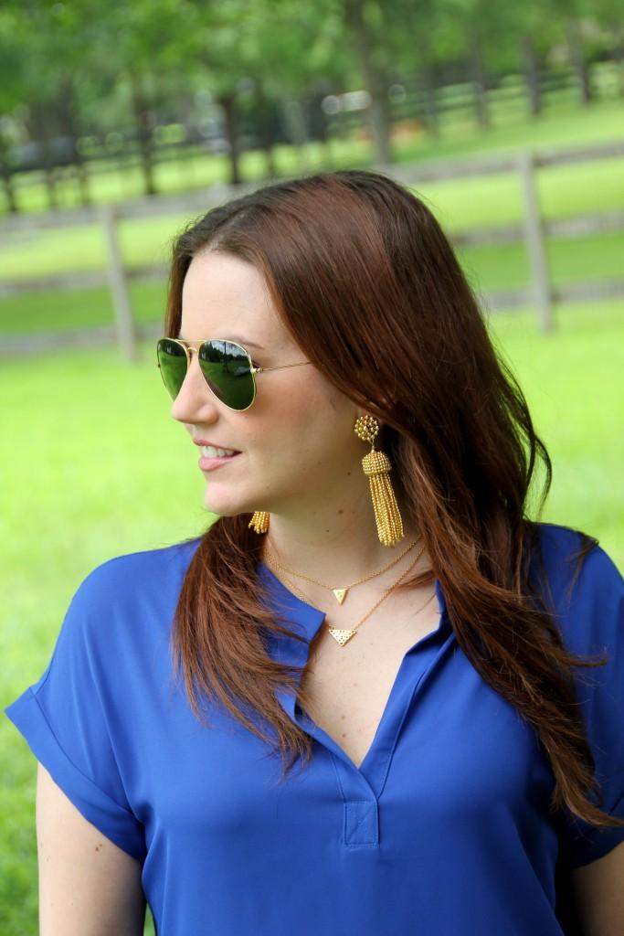 Gold Tassel Earrings | Lady in Violet