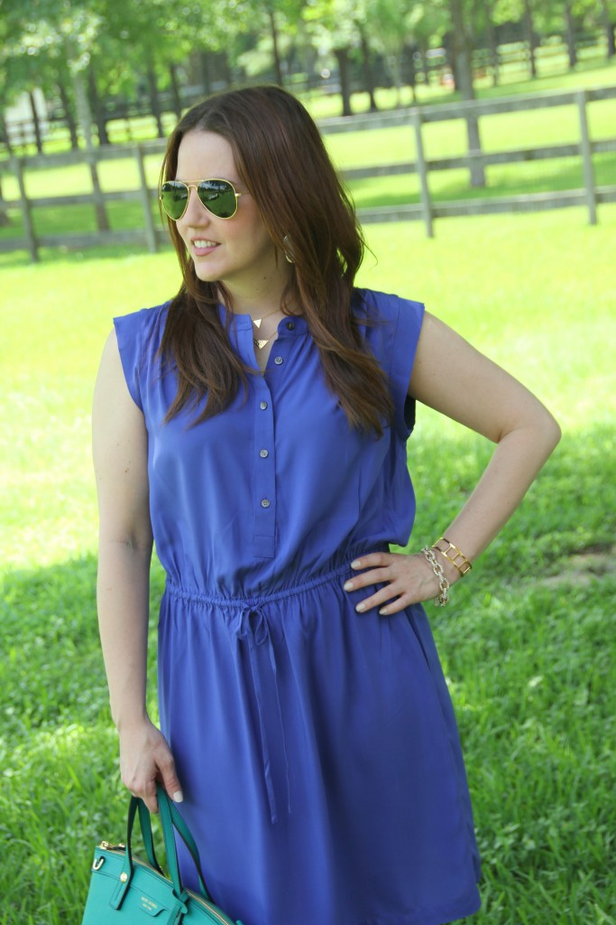 Loft Henley Drawstring Dress | Lady in Violet